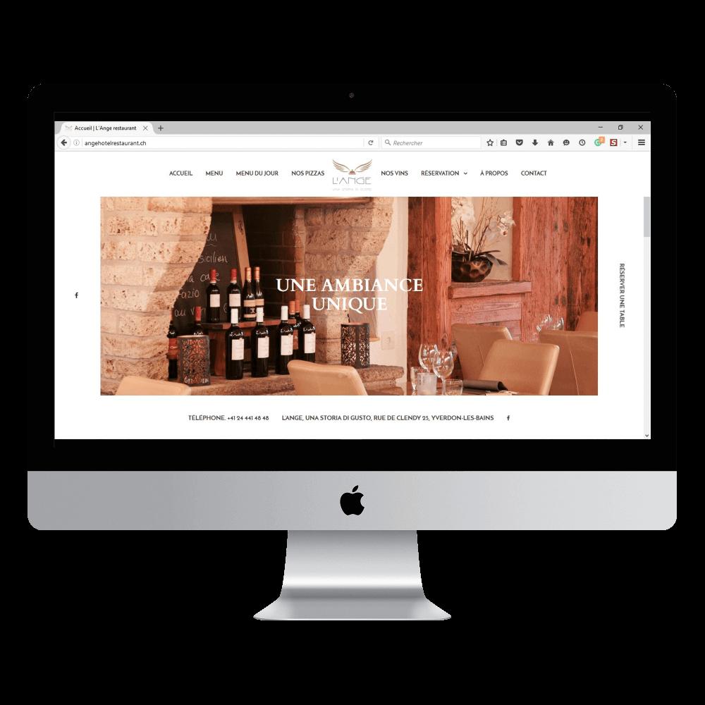 Présentation site angehotelrestaurant.ch sur desktop