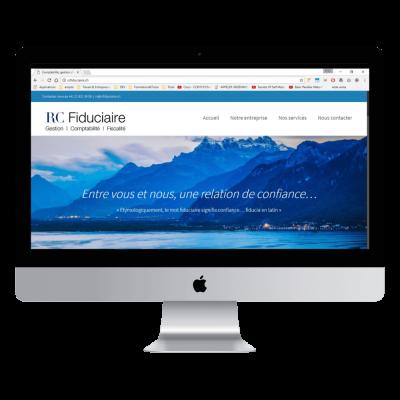Présentation site rcfiduciaire.ch page d'accueil