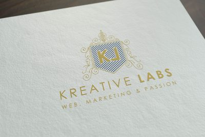 mockup logo Kreative Labs Or