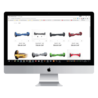 Présentation site e-commerce ridefreeway.com page shop